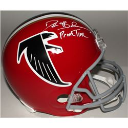 Deion Sanders Signed Falcons Full-Size Replica Helmet Inscribed  Prime Time  (JSA COA)