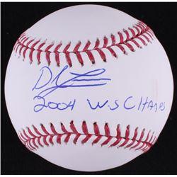 "Derek Lowe Signed OML Baseball Inscribed ""2004 W.S Champs"" (MAB Hologram)"