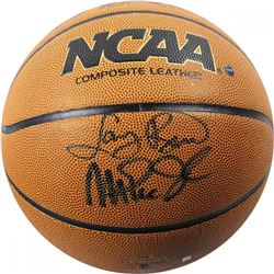 Magic Johnson  Larry Bird Signed Basketball (Steiner COA)