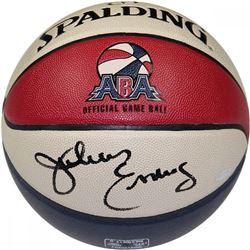 """Julius """"Dr. J"""" Erving Signed ABA Spalding Basketball (Steiner COA)"""