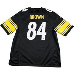 """Antonio Brown Signed Steelers Jersey Inscribed """"Steeler Nation"""" (Steiner COA)"""