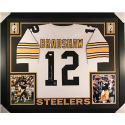 Terry Bradshaw Signed Steelers 36x44 Custom Framed Jersey (JSA COA  Bradshaw Hologram)