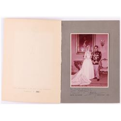 """Grace Kelly  Prince Rainier Signed Vintage 5x7 Photo In Photo Folder Inscribed """"With Affection"""" (PSA"""
