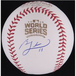 Ben Zobrist Signed Official 2016 World Series Baseball (Schwartz COA)
