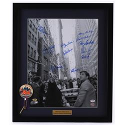1969 New York Mets World Champions 22x26 Custom Framed Photo Team-Signed by (12) with Nolan Ryan, Ed