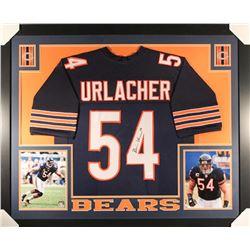 Brian Urlacher Signed Bears 36x44 Custom Framed Jersey (JSA COA)