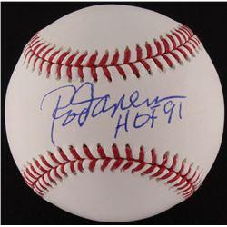 "Rod Carew Signed OML Baseball Inscribed ""HOF 91"" (JSA Hologram)"