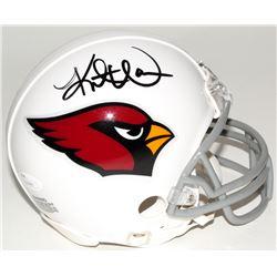 Kurt Warner Signed Cardinals Mini Helmet (JSA COA)