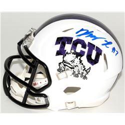 Kenny Hill Signed Texas Christian University Horned Frogs Mini Speed Helmet (JSA COA)