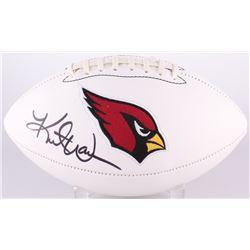 Kurt Warner Signed Cardinals Logo Football (Radtke COA  Warner Hologram)