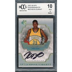 2007-08 SPx Endorsements #KD Kevin Durant (BCCG 10)