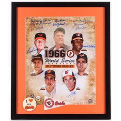 1966 Balitmore Orioles Team-Signed 22x26 Custom Framed World Series Champions Photo Display Signed b