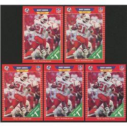 Lot of (5) 1989 Pro Set #494 Barry Sanders RC