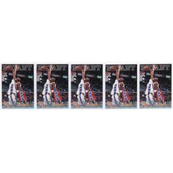 Lot of (5) 1996 Score Board Autographed BK #15 Kobe Bryant