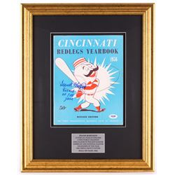 """Frank Robinson Signed 16x20 Custom Framed 1956 Reds Year Book Display Inscribed """"Rookie of the Year"""""""