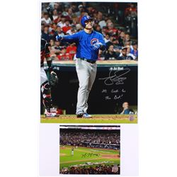 """Lot of (2) Signed Cubs Photos with (1) Mike Montgomery 8x10  (1)  Matt Szczur 16x20 Inscribed """"Its G"""