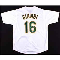 Jason Giambi Signed Athletics Jersey (JSA COA)
