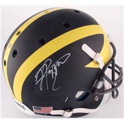 Jabrill Peppers Signed Michigan Wolverines Custom Matte Blue Full-Size Helmet (JSA COA)