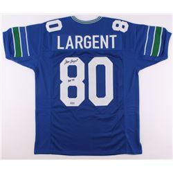 """Steve Largent Signed Seahawks Jersey Inscribed """"HOF '95"""" (Radtke Hologram)"""