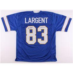 "Steve Largent Signed Tulsa Golden Hurricanes Jersey Inscribed ""'75 All-American"" (JSA COA)"