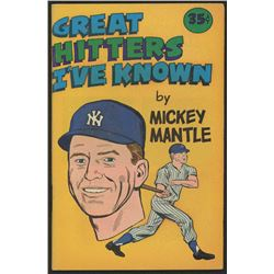 "Vintage 1976 Mickey Mantle ""Great Hitters I've Known"" Comic Book"