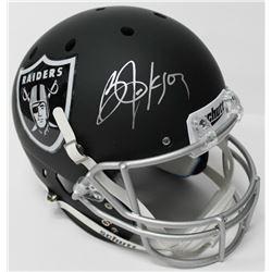 Bo Jackson Signed Raiders Custom Matte Black Full-Size Helmet (JSA COA  Jackson Hologram)