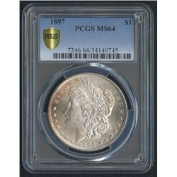 1897 Morgan Silver Dollar (PCGS MS 64)