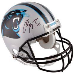 Christian McCaffrey Signed Panthers Full-Size Authentic On-Field Helmet (Fanatics)