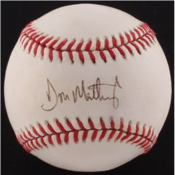 Don Mattingly Signed OML Baseball (PSA COA)