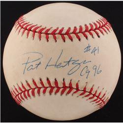 "Pat Hentgen Signed ONL Baseball Inscribed ""CY 96"" (PSA COA)"