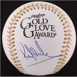Rickey Henderson Signed Golden Glove Award Baseball (JSA COA)