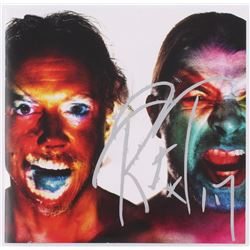 "Lars Ulrich  Robert Trujillo ""Metallica"" Band Signed ""Hardwired"" CD Cover (JSA COA)"