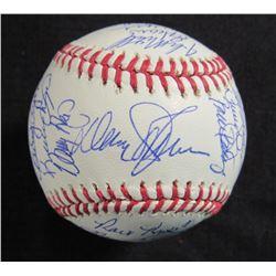 1986 Mets OML Baseball Signed by (30) with Davey Johnson, Bud Harrelson, Jesse Orosco, Darryl Strawb