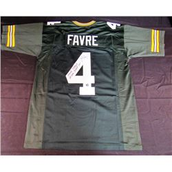 Brett Favre Signed Packers Jersey With (5) Career Stat Inscriptions (Favre Hologram)