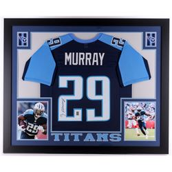 DeMarco Murray Signed Titans 35x43 Custom Framed Jersey (JSA COA  Murray Hologram)