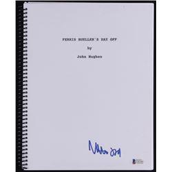 """Matthew Broderick Signed """"Ferris Bueller's Day Off"""" Full Movie Script (Beckett COA)"""