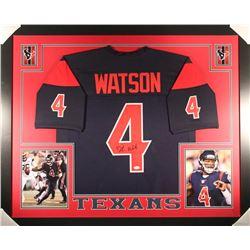 Deshaun Watson Signed Texans 35x43 Custom Framed Jersey (JSA COA)