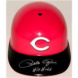 Pete Rose Signed Reds Full-Size Souvenir Batting Helmet (JSA COA)