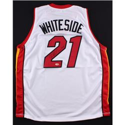 "Hassan Whiteside Signed Heat Jersey Inscribed ""Go Heat"" (Hollywood Collectible's COA)"