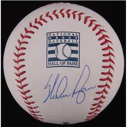 Nolan Ryan Signed OML Hall Of Fame Logo Baseball (Ryan Hologram  FSC COA)