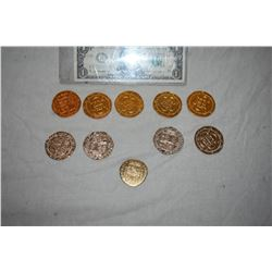 PIRATES OF THE CARIBBEAN LOT OF 10 SCREEN USED TREASURE COINS 50 A-GRADE