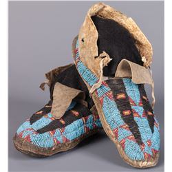 Northern Plains Moccasins with Buffalo Tracks