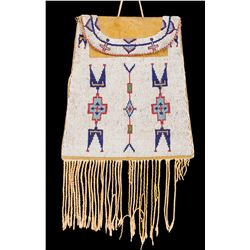 Large Osage Beaded Flat Bag