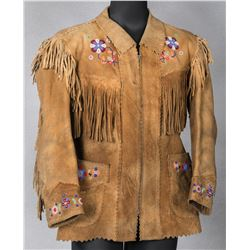 Athabascan Man's Beaded and Fringed Jacket