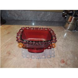 Red Glass Candy Dish $25 to $50