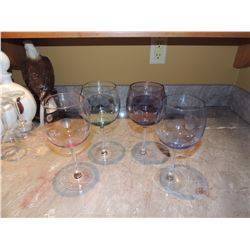 4 Large Wine Glasses $5 to $15