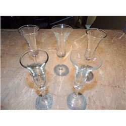 5 Cordial Glasses $5 to $20