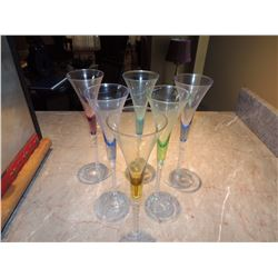 6 Champagne Flutes $5 to $20
