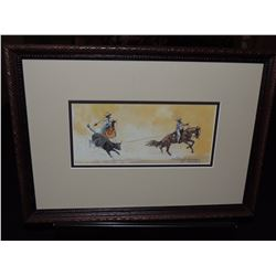 Roping Scene by Anne Aller Overstreet $300 to $500