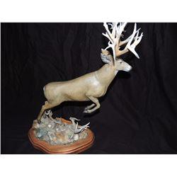 "Bronze Mule Deer Sculpture by Larry Gay 24""high by 18"" wide by 9"" long (Appraisal $1500)"